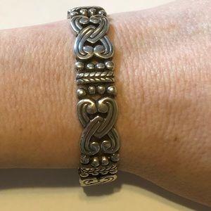 Brighton intertwined heart silver bracelet.